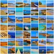 Stock Photo: Spanish beaches collage