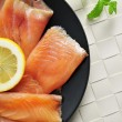 Marinated smoked salmon — Stock Photo