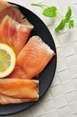 Marinated smoked salmon — Stock Photo