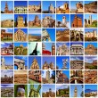 European landmarks collage — 图库照片