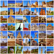 European landmarks collage — Stockfoto