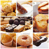 Spanish pastries collage — Stock Photo