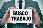 Busco trabajo, looking for a job in spanish — Stock Photo