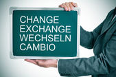 Change, exchange, wechseln, cambio — Stock Photo