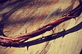 イエス ・ キリストいばらの冠のレトロなフィルター効果 — ストック写真