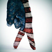 american flag walking — Stock Photo