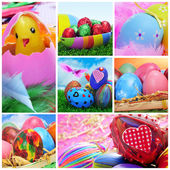 Easter eggs collage — Stock Photo