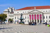 National Theatre D. Maria II in Lisbon, Portugal — Stock Photo