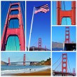 Golden Gate Bridge collage — Stock Photo #43526373
