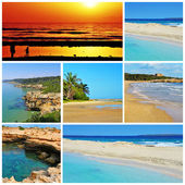 Spanish beaches collage — Stock Photo