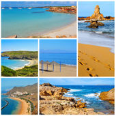 Spanish beaches collage — Stok fotoğraf