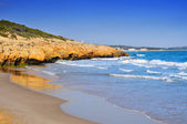 Cala Romana beach in Tarragona, Spain — Stock Photo
