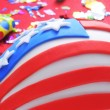 Cupcake decorated as the United States flag — Stok fotoğraf