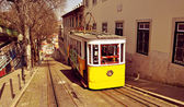 Historical Gloria Funicular in Lisbon, Portugal — Stock Photo