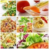 Salad collage — Stock Photo