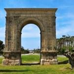 Arc de Bera, an ancient roman triumphal arch in Roda de Bera, Sp — Stock Photo #45539957