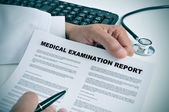 Medical examination report — Stock Photo