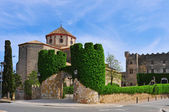 Sant Marti Church and Altafulla Castle in Altafulla, Spain — Foto Stock