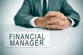 Financial manager — Stock Photo