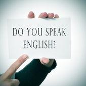 Do you speak english? — Stock Photo