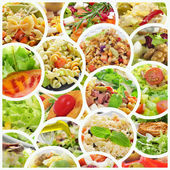 Salad collage — Foto Stock