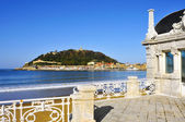 La Concha Beach in San Sebastian, Spain — Stock Photo