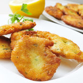 Tortas de bacalao, spanish cod cakes — Stock Photo