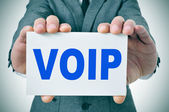 VOIP, Voice Over Internet Protocol — Stock Photo