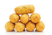 Croquetas de bacalao, spanish codfish croquettes — Stock Photo