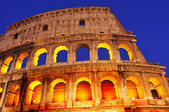 The Coliseum in Rome, Italy, at night — Stock Photo