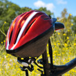 Mountain bike and helmet — Stock Photo #47784035
