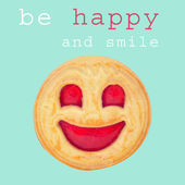 Be happy and smile biscuit — Stock Photo