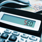 SEO, acronym for Search Engine Optimization — Stock Photo