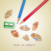 Back to school, with a retro effect — Stock Photo