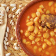 Potaje de judias y garbanzos, a traditional spanish legume stew — Stock Photo #48948303