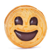 Smiley biscuit — Stock Photo