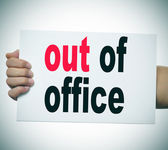 Out of office — Stock Photo