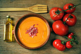 Spanish salmorejo — Stock Photo