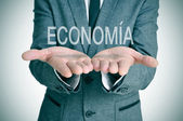Economia, economy in spanish — Stock Photo