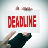 Deadline — Stock Photo