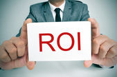 ROI, acronym for Rate of Interest or Return on Investment — Stock Photo