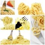 Long pasta collage — Stock Photo #50717465
