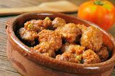 Spanish meatballs stew — Stock Photo