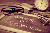 Back to school in duotone — Stock Photo