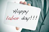 Happy labor day — Stock Photo