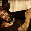 Jesus Christ carrying the holy cross — Stock Photo #9609187