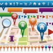 Stock Vector: Map and Navigation icons
