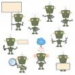 Cartoon military robots — Stock Vector