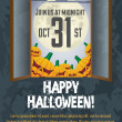 Grungy Halloween poster - Stock Vector
