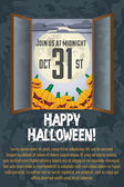 Grungy Halloween poster — Stock Vector